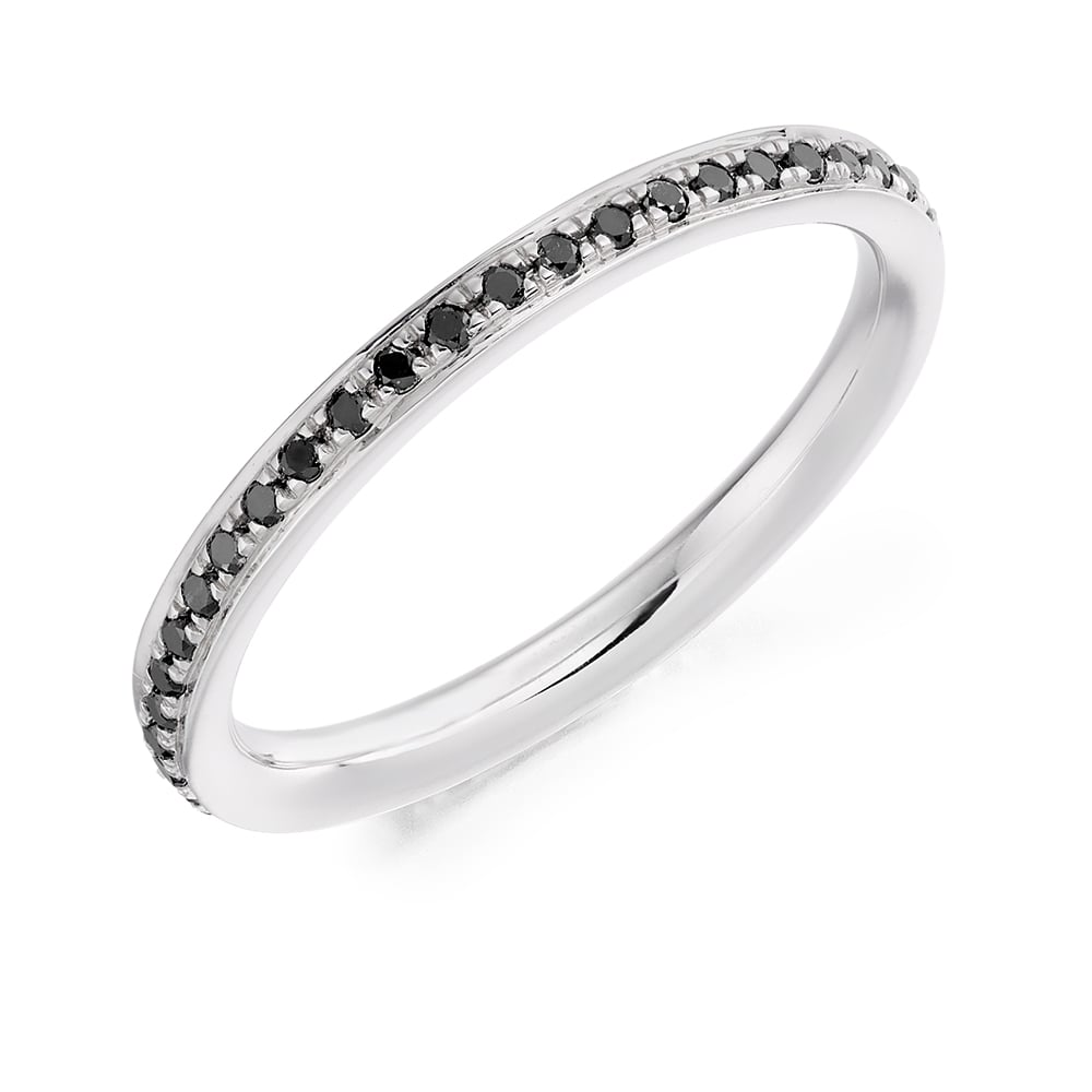 18ct White Gold 0 30ct Black Diamond Eternity Ring