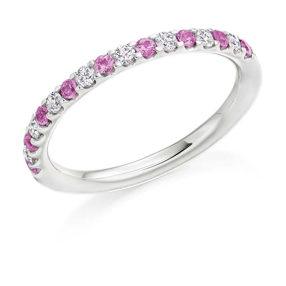 pink image halo with sapphire ring rings platinum finnies coloured the shoulders jewellers stone jewellery diamond