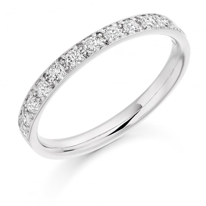Lance James Wedding & Eternity 18ct White Gold 0.40ct Grain Set Diamond Ring