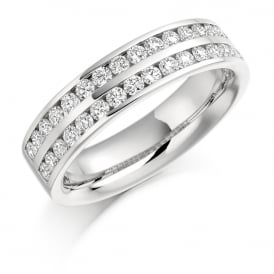 18ct White Gold 0.75ct Channel Set Diamond Ring