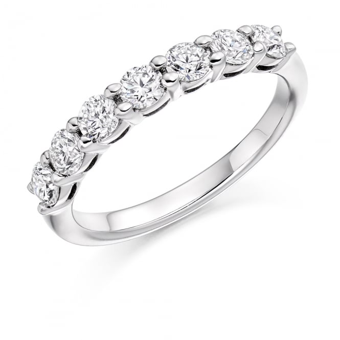 Lance James Wedding & Eternity 18ct White Gold 0.75ct Shared Claw Eternity Ring
