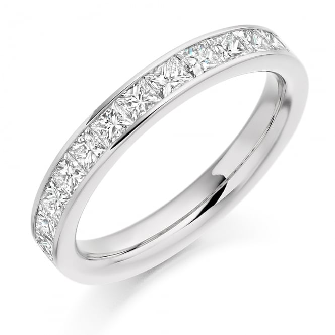 Lance James Wedding & Eternity 18ct White Gold 1.00ct Princess Cut Diamond Ring