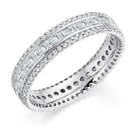 18ct White Gold 1.35ct Mixed Diamond Eternity Ring