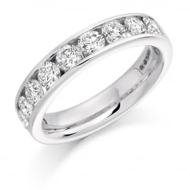 18ct White Gold 1.50ct Round Channel Diamond Ring