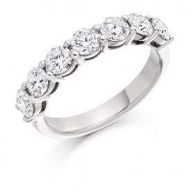 18ct White Gold 1.50ct Shared Claw Diamond Ring