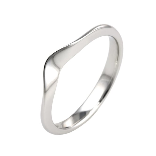 Lance James Wedding & Eternity 18ct White Gold 2mm U Shape Contoured Wedding Ring