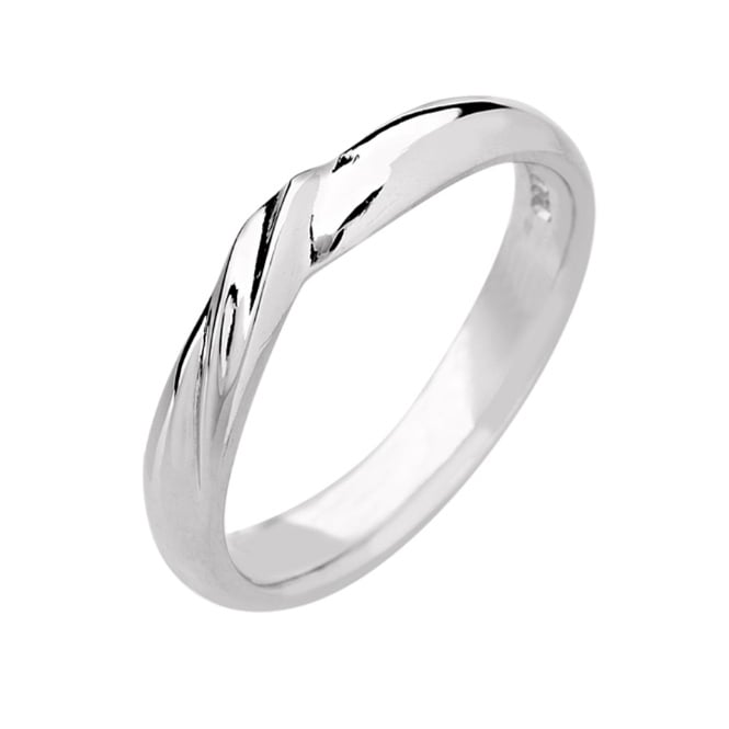 Lance James Wedding & Eternity 18ct White Gold 3mm V Shape Wedding Ring