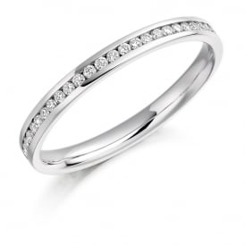 18ct White Gold Fully Set 0.35ct Brilliant Cut Diamond Ring