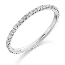 18ct White Gold Fully Set 0.50ct Diamond Eternity Ring