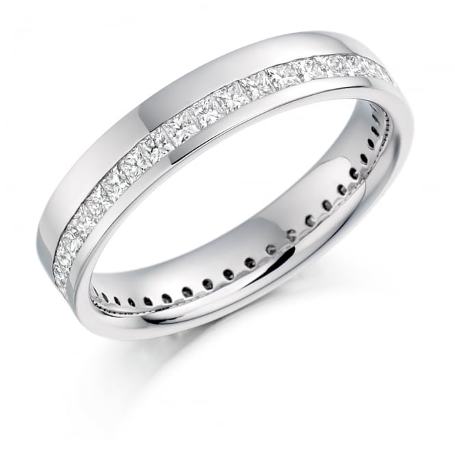 Lance James Wedding & Eternity 18ct White Gold Fully Set Princess Cut 1.00ct Eternity Ring