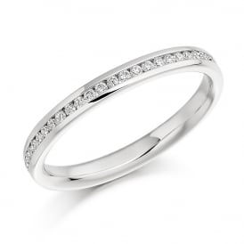 18ct White Gold Half Set 0.15ct Eternity Ring
