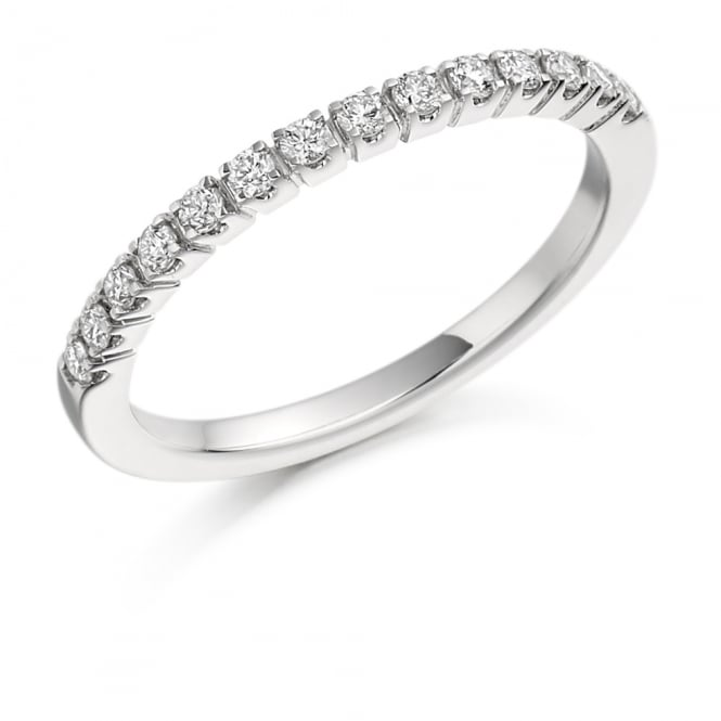 Lance James Wedding & Eternity 18ct White Gold Half Set 0.23ct Diamond Eternity Ring