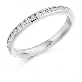 18ct White Gold Half Set 0.33ct Diamond Eternity Ring