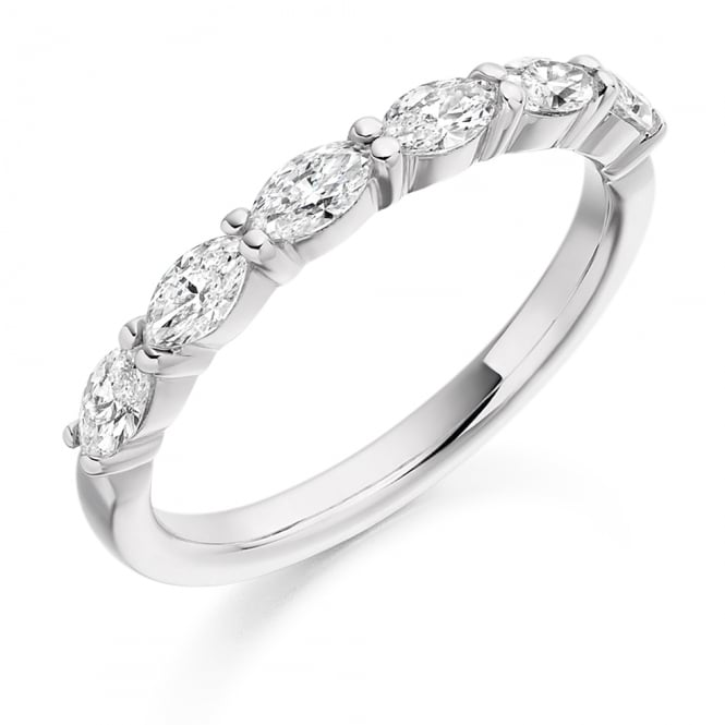 Lance James Wedding & Eternity 18ct White Gold Marquise Cut 0.60ct Diamond Ring