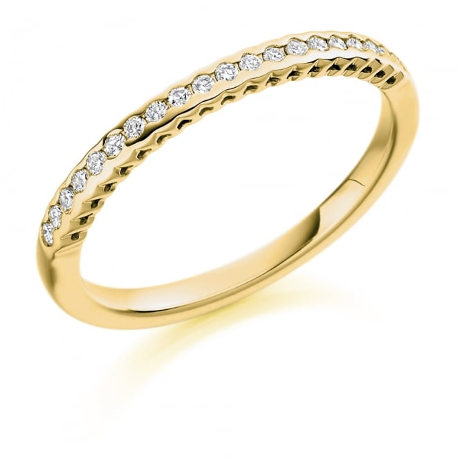 Lance James Wedding & Eternity 18ct Yellow Gold 0.15ct Rubover Set Diamond Ring