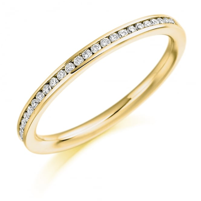 Lance James Wedding & Eternity 18ct Yellow Gold 0.20ct Brilliant Channel Set Eternity Ring