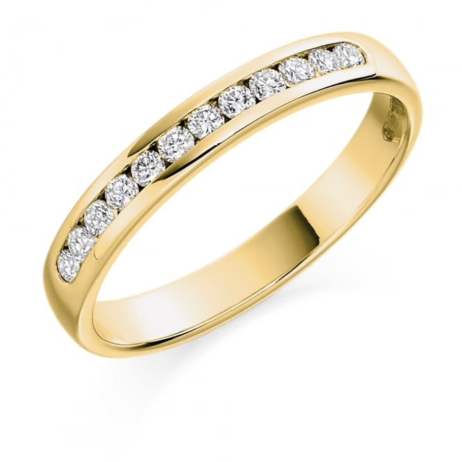 Lance James Wedding & Eternity 18ct Yellow Gold 0.25ct Channel Set Diamond Ring