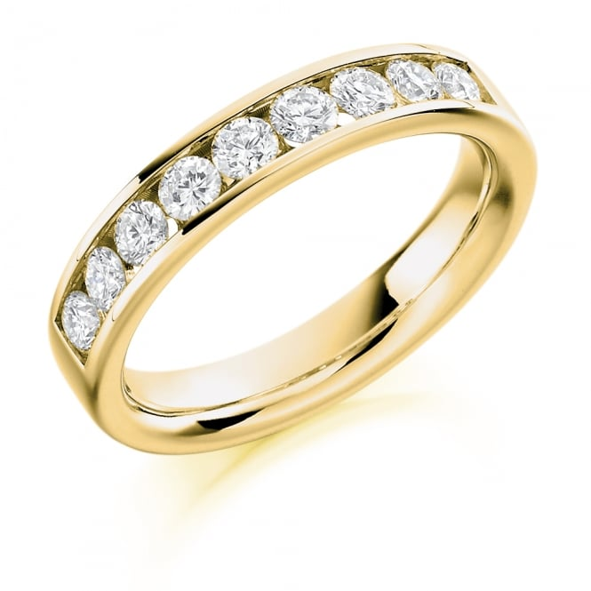 Lance James Wedding & Eternity 18ct Yellow Gold 0.70ct Half Set Diamond Ring