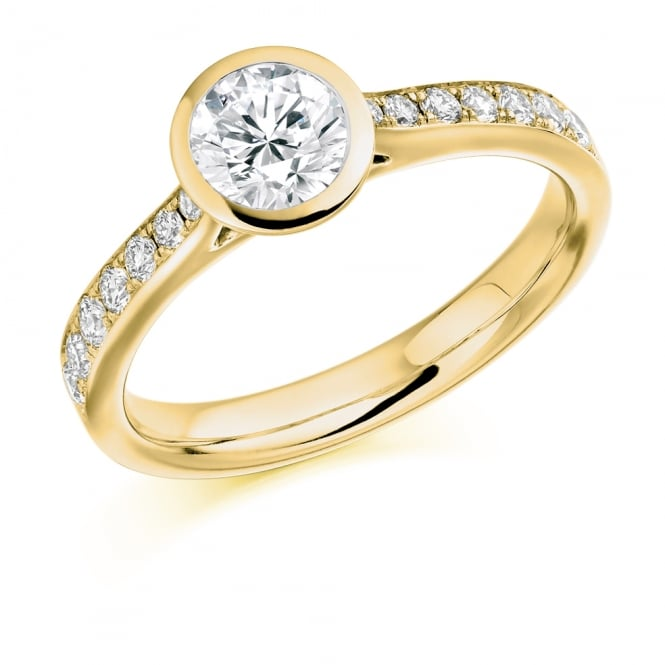 Lance James Wedding & Eternity 18ct Yellow Gold 0.80ct Rubover Engagement Ring