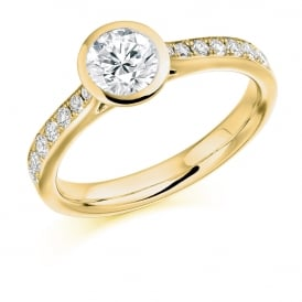 18ct Yellow Gold 0.80ct Rubover Engagement Ring