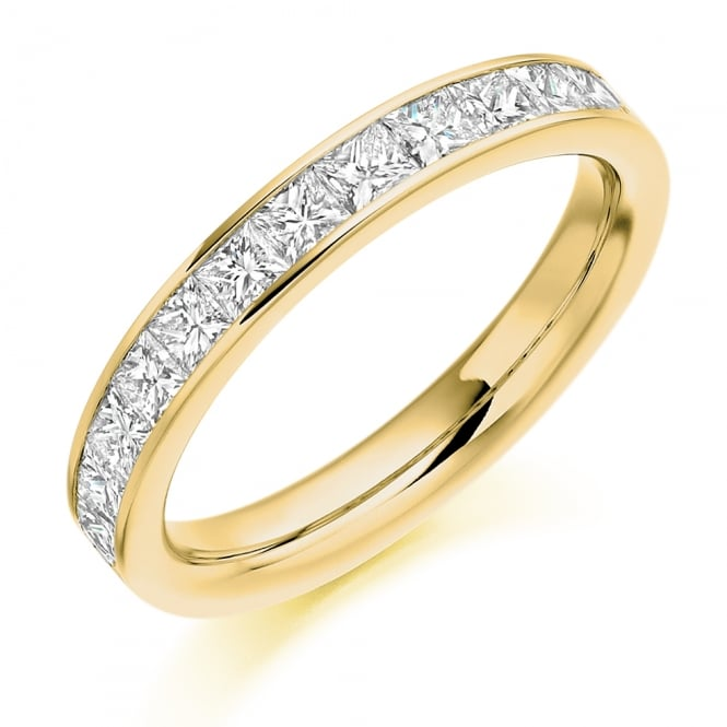 Lance James Wedding & Eternity 18ct Yellow Gold 1.00ct Princess Cut Diamond Ring