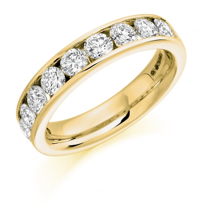 Lance James Wedding & Eternity 18ct Yellow Gold 1.50ct Round Channel Diamond Ring
