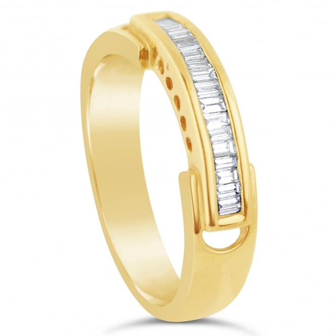 Lance James Wedding & Eternity 18ct Yellow Gold Baguette Cut Eternity Ring