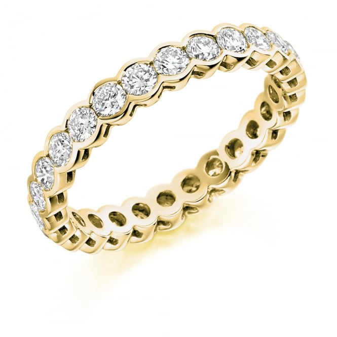Lance James Wedding & Eternity 18ct Yellow Gold Fully Set 1.50ct Rubover Diamond Ring