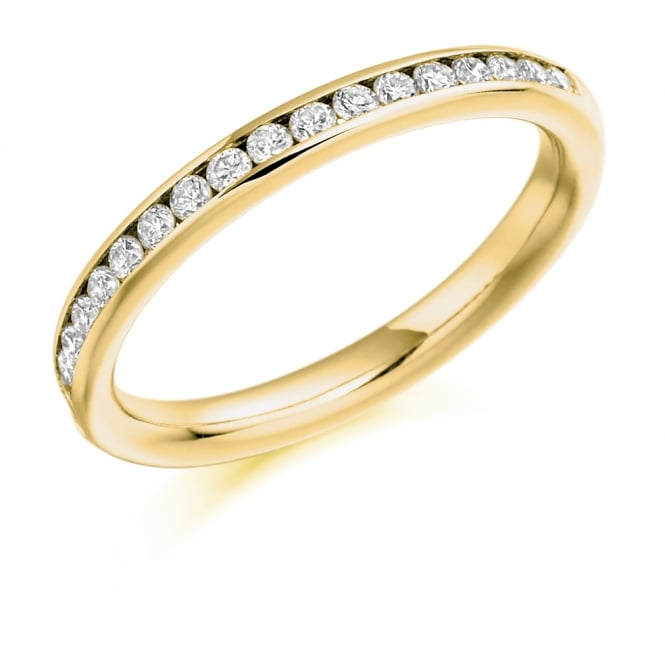 Lance James Wedding & Eternity 18ct Yellow Gold Half Set 0.33ct Diamond Eternity Ring