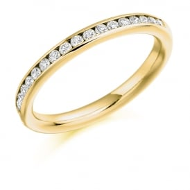18ct Yellow Gold Half Set 0.33ct Diamond Eternity Ring