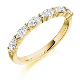 18ct Yellow Gold Marquise Cut 0.60ct Diamond Ring