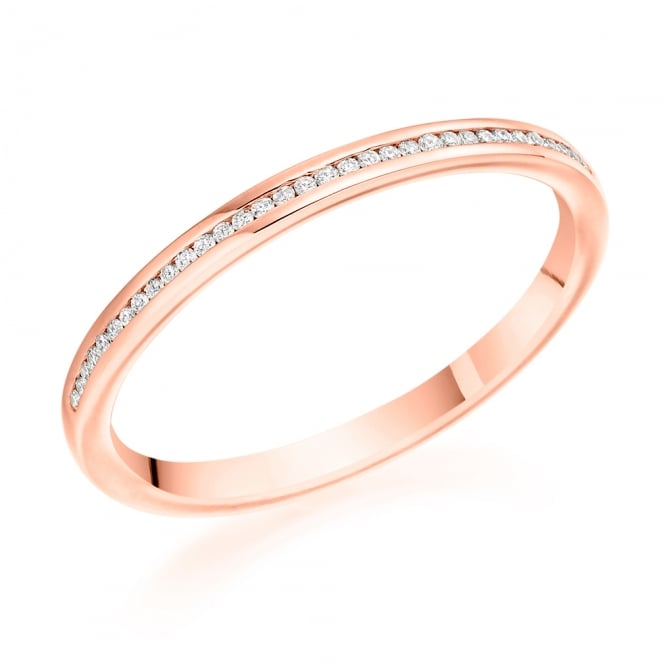 Lance James Wedding & Eternity 9ct Rose Gold 0.07ct Channel Set Diamond Ring