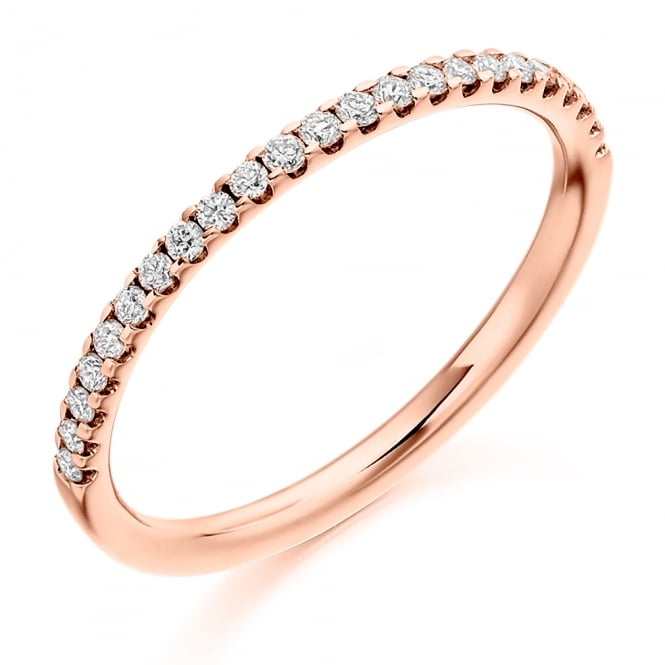 Lance James Wedding & Eternity 9ct Rose Gold 0.25ct Micro Claw Diamond Ring