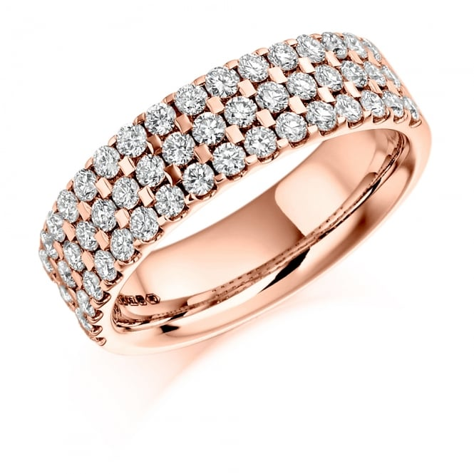 Lance James Wedding & Eternity 9ct Rose Gold 1.05ct Diamond Micro Claw Eternity Ring