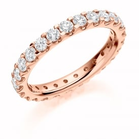 9ct Rose Gold Fully Set 1.5ct Brilliant Cut Diamond Ring