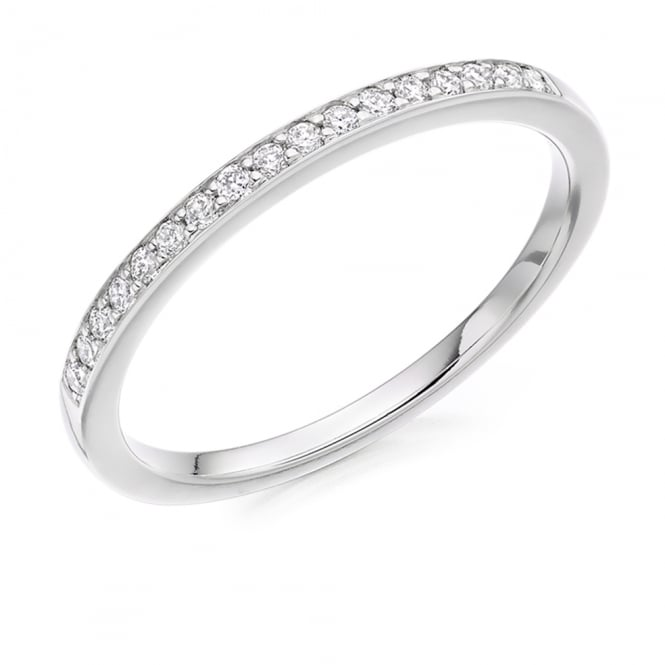 Lance James Wedding & Eternity 9ct White Gold 0.15ct Brilliant Cut Diamond Eternity Ring