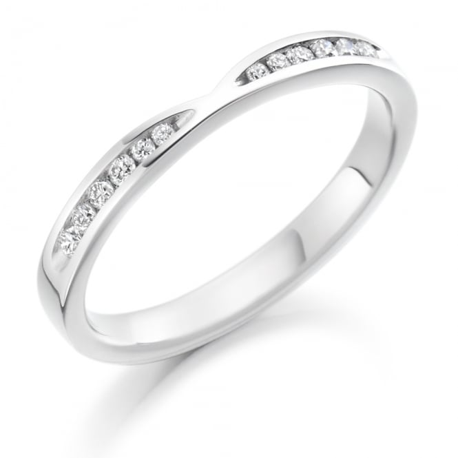 Lance James Wedding & Eternity 9ct White Gold 0.18ct Shaped Diamond Ring