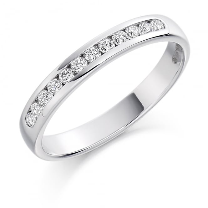 Lance James Wedding & Eternity 9ct White Gold 0.25ct Channel Set Diamond Ring