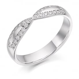 9ct White Gold 0.25ct Cut Out Diamond Ring