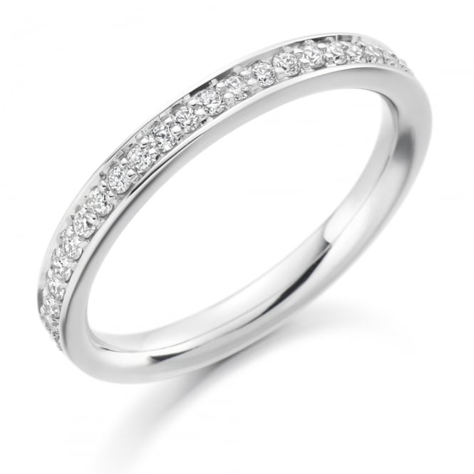 Lance James Wedding & Eternity 9ct White Gold 0.25ct Vintage Grain Set Eternity Ring