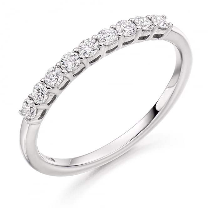 Lance James Wedding & Eternity 9ct White Gold 0.33ct Shared Claw Eternity Ring
