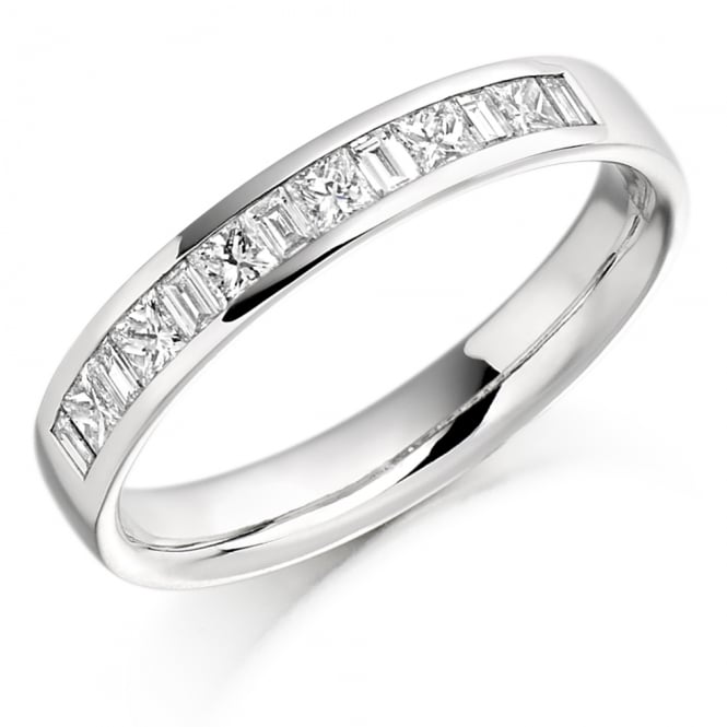 Lance James Wedding & Eternity 9ct White Gold 0.50ct Channel Set Diamond Ring