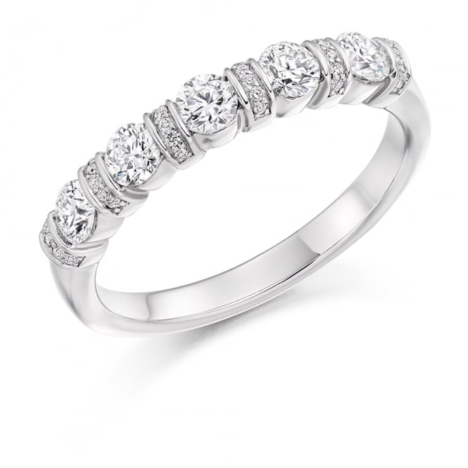 Lance James Wedding & Eternity 9ct White Gold 0.60ct Vintage Style Diamond Ring