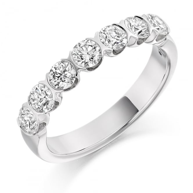 Lance James Wedding & Eternity 9ct White Gold 1.00ct Brilliant Bar Set Diamond Ring