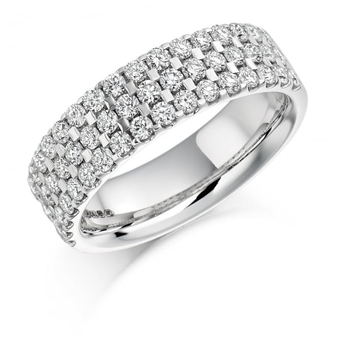 Lance James Wedding & Eternity 9ct White Gold 1.05ct Diamond Micro Claw Eternity Ring