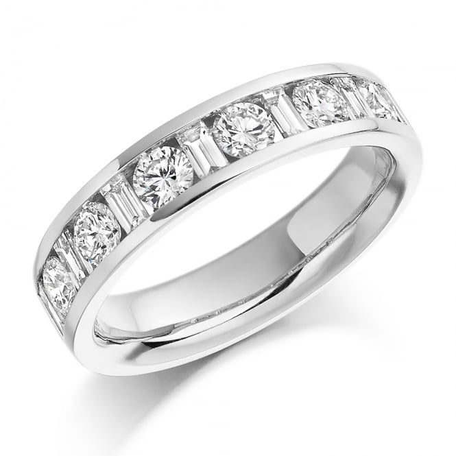 Lance James Wedding & Eternity 9ct White Gold 1.08ct Mixed Cut Diamond Eternity Ring
