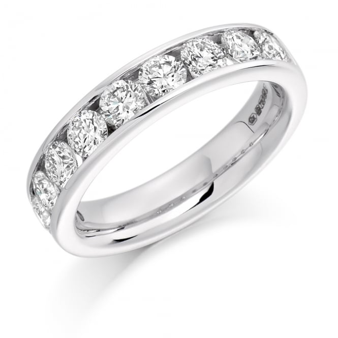 Lance James Wedding & Eternity 9ct White Gold 1.50ct Round Channel Diamond Ring