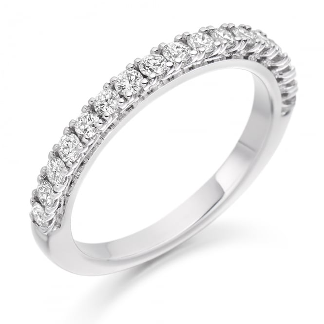 Lance James Wedding & Eternity 9ct White Gold Claw Set 0.50ct Diamond Eternity Ring