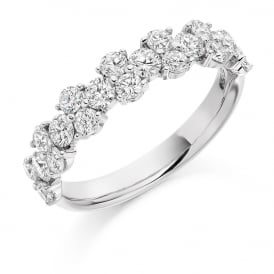 9ct White Gold Fancy 1.20ct Diamond Claw Ring