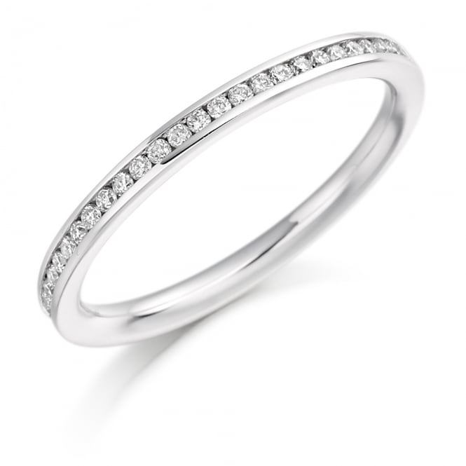 Lance James Wedding & Eternity 9ct White Gold Fully Set 0.50ct Channel Set Diamond Ring